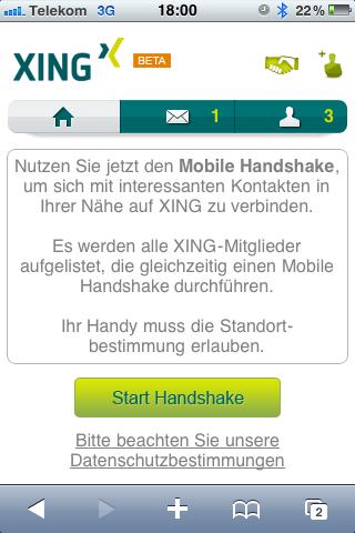 XING Mobile Handshake