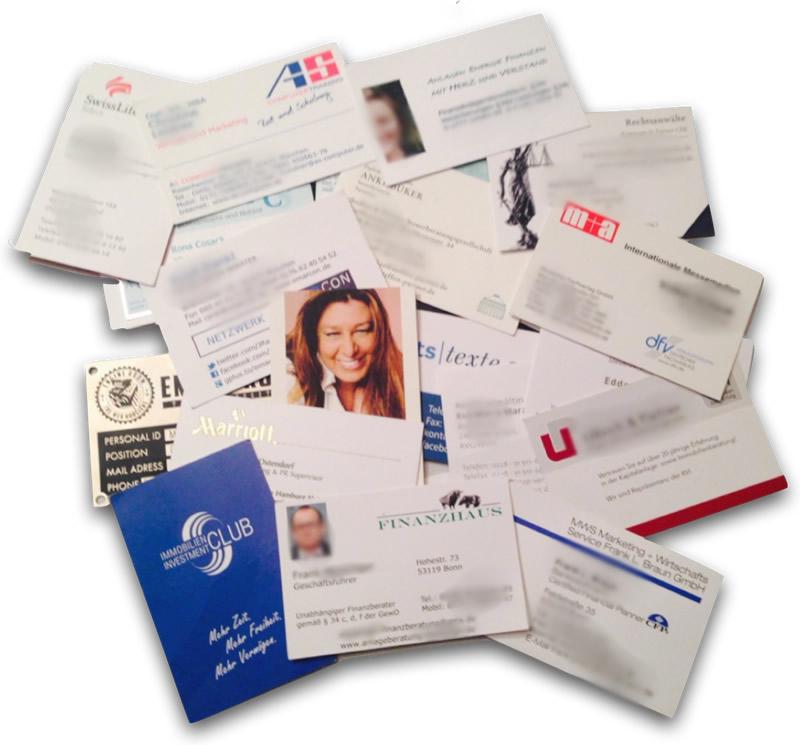 Sieben Tipps Zum Umgang Mit Visitenkarten Beim Netzwerken