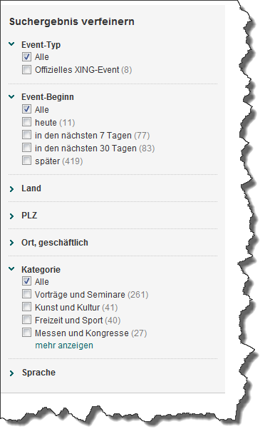 facettensuche-xing-events