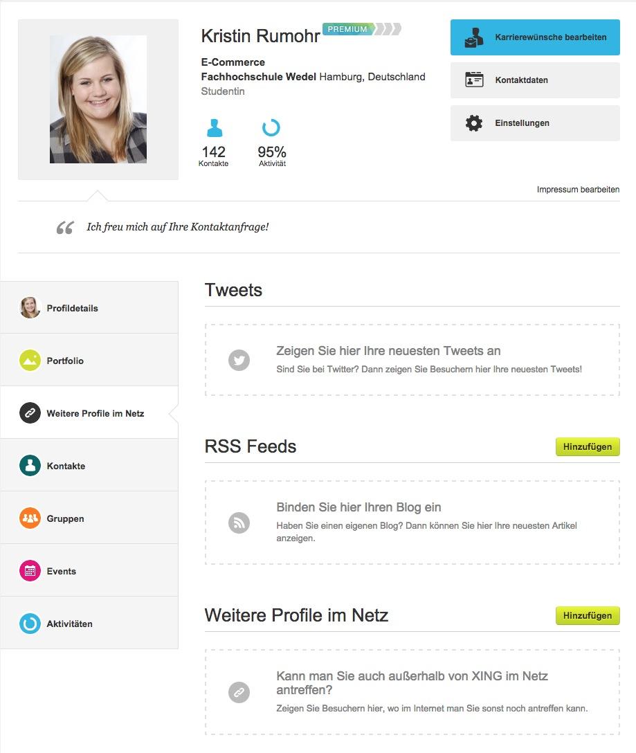 weitere profile im netz